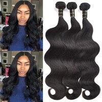 Human Hair Body Wave 1 Bundle Brazilian Virgin Hair Body Wave 8A Unprocessed Virgin Human Hair Weft Brazilian Body Wave 100g 1B