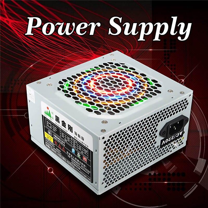 Fuente de alimentación PC ordenador PC CPU fuente de alimentación 20 + 4-pin 120mm ventiladores ATX PCIE w /SATA de alta calidad