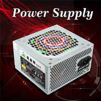 Fuente de alimentación del ordenador PC CPU fuente de alimentación 20 + 4-pin 120mm ventiladores ATX PCIE w/SATA de alta calidad