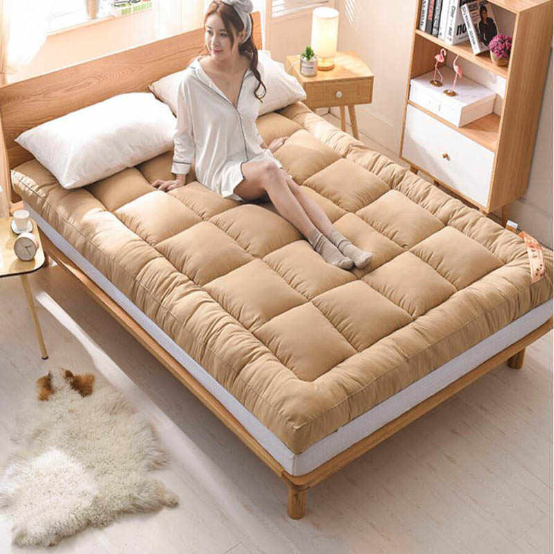 Winter Warm Thicken Home Bedroom Mattress Pad Tatami Rug Carpet  Baby Sleeping Carpet Bed Cushion Student Bedding Mats