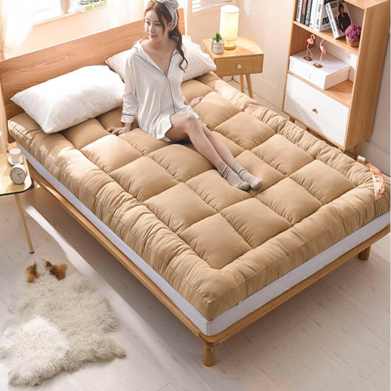 Winter Warm Thicken Home Bedroom Mattress Pad Tatami Rug Carpet  Baby Sleeping Carpet Bed Cushion Student Bedding Mats-in Mattresses from Furniture    1