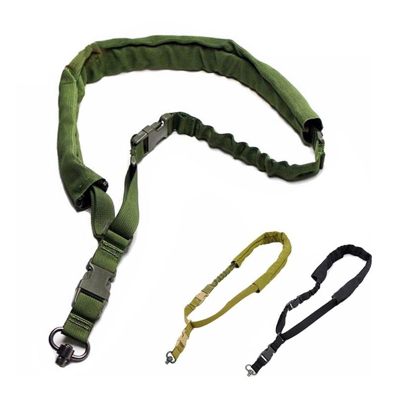 Gun Sling Tactical Shoulder Strap Outdoor Rifle Sling With Velcro Adjustable Gun Belt Hunting Accessories Single Point Sling