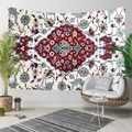 Mais Branco Vermelho Persa Tradional Impressão Étnica Floral Azul 3D Hippi Bohemian Paisagem Tapeçaria Da Suspensão de Parede Decorativo Arte Da Parede