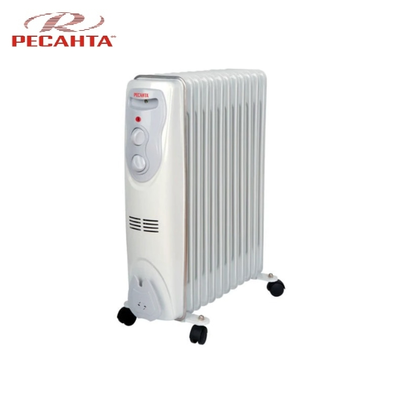 Oil radiator RESANTA OM-12N Air heating Oil heater Space heating Oil filled radiator Sectional radiator цены