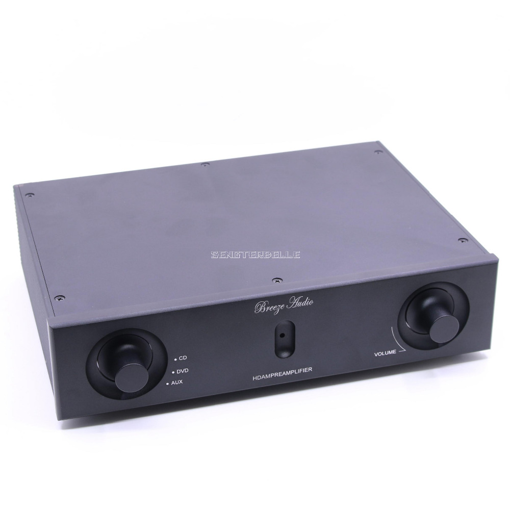 Finished HDAM Stereo HiFi Preamplifier 2SK389 Pre-Amp 3-Way Input Reference Marantz HDAM Amplifier Audio