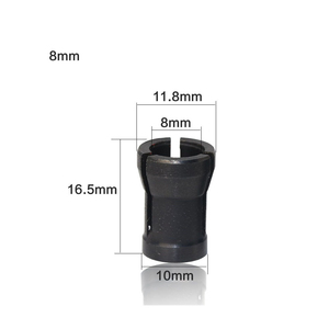 Image 2 - Adaptateur pour mandrin pour pince, gravure Machine de découpage, routeur électrique, 6.35mm/8mm/6mm