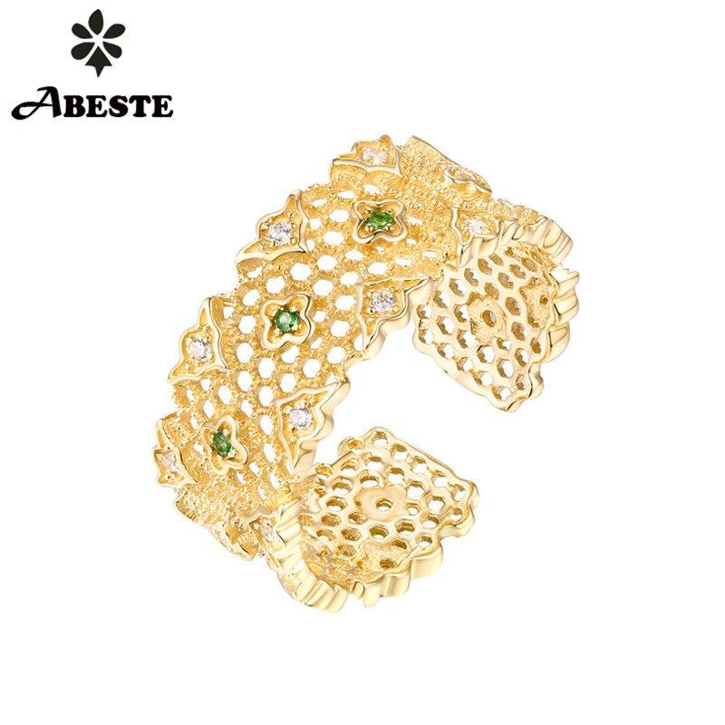 ANI 14 k Ouro Amarelo Do Anel de Casamento Mulheres Rodada Natural Tsavorite Gemstone Fine Jewelry Certified Anel De Noivado anel de oro