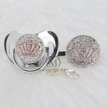 Clip-Set Pacifier GOLD MIYOCAR Dummy Bling Pink-Crown Bpa-Free And APCB-9-1 Beautiful