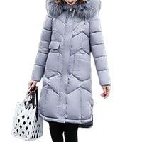 Fashion Women Long Sleeve Zip Up Parka Overcoat 2017 Winter Outwear Casual Jacket Solid Color Long