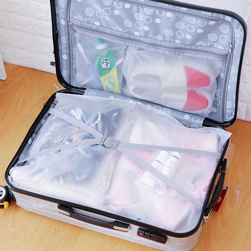 1pcs Portable Waterproof Storage Bags Travel Luggage Partition Storage Bag Jewelry Ziplock Zip Zipped Lock Reclosable EVA Bags