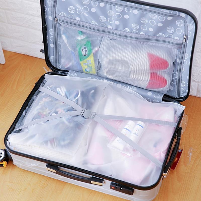 Шт. 1 шт. портативный водостойкие сумки для хранения путешествия чемодан перегородки сумка Ювелирные изделия Ziplock молния замок на молнии...