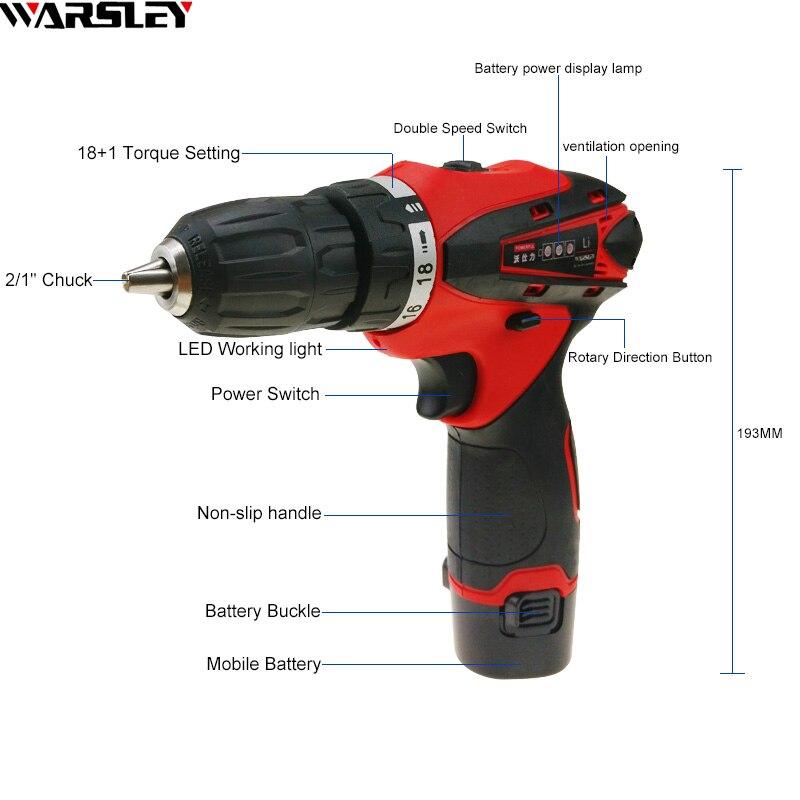 12V 2 Baterías Destornillador Taladro eléctrico Herramientas - Herramientas eléctricas - foto 2