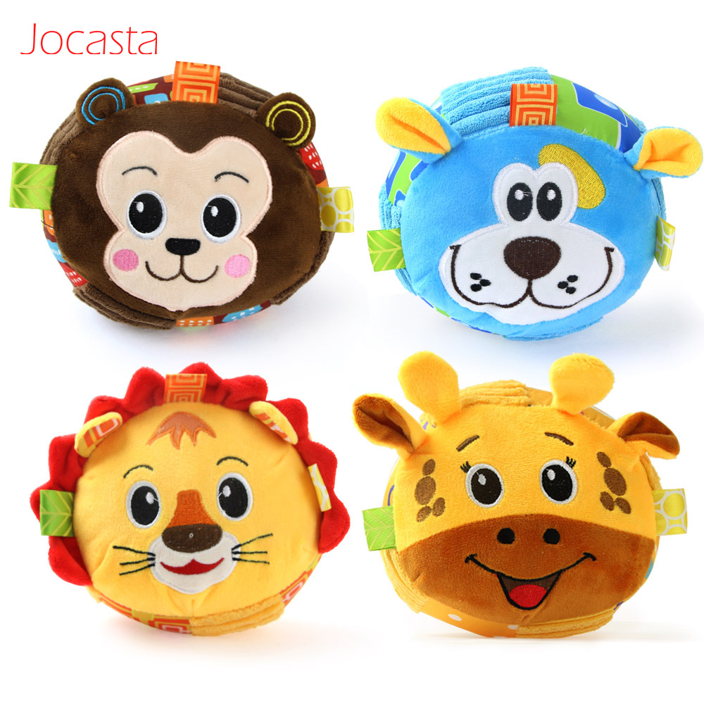 Baby Rattles & Mobiles Toys & Hobbies Fashion Cute Cartoon Chick Baby Beads Grasping Ball Music Light Teether Rattles Toy