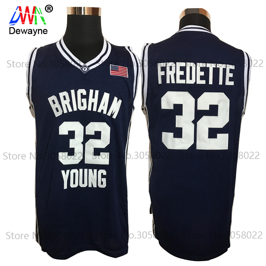 8e0bf1758 college jersey shirts 2017 Men Dwayne Cheap Throwback font b Basketball b  font Jersey Jimmer Fredette 32 Brigham Young
