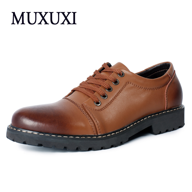 Genuine Leather Men Casual Shoes Men Fashion Men Shoes High Quality Comfortable Oxfords Outdoor working Shoes