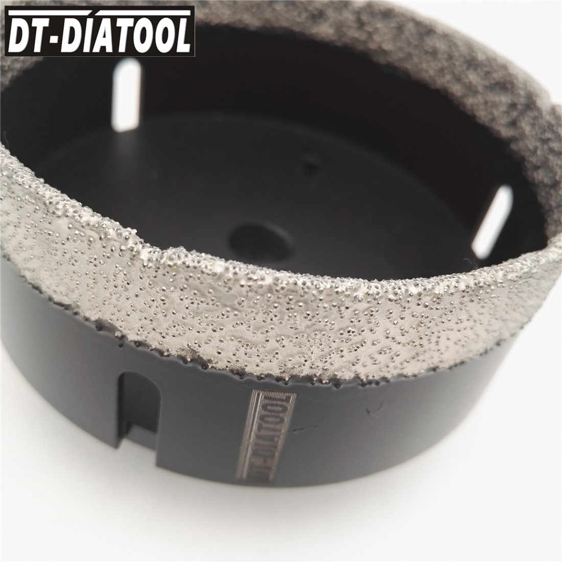DT-DIATOOL 1pc vácuo seco soldadas diamante brocas de núcleo de perfuração cerâmica telha buraco viu brocas de mármore granito com rosca m14