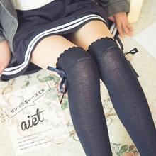 Hot 8 Colors Winter Socks Women High Quality Knitted Stockings Knee Socks Thick Warm Socks Leg Warmers Woman Thigh High Stocking