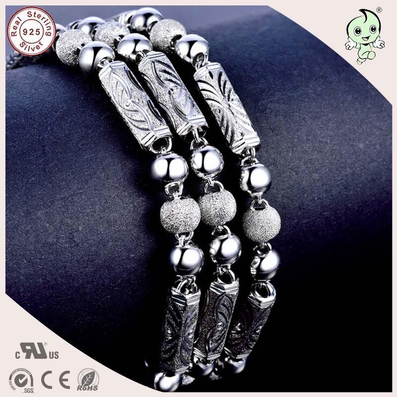 Collar de cadena gruesa de hombre gemométrica de plata esterlina S925 pesado Popular - 2