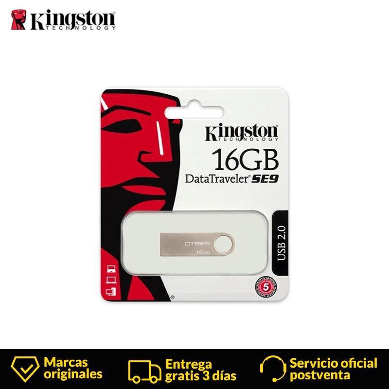 Kingston DataTraveler SE9 USB Flash Drives Mini Pendrive USB 2.0 16GB 32GB Capless Metal USB Pen Drives Memory Flash U Disk