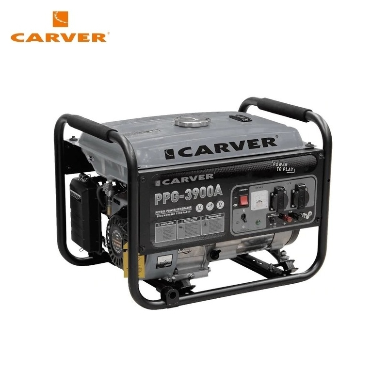 Petrol power generator CARVER PPG-3900A Power home appliances Backup source during power outages Benzine power stations traco power ted0511 ted0521