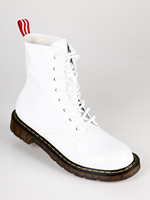 Combat Boots patent leather white