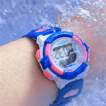 Waterproof Small Children's Watches Boys Girls Gift Digital Displa Electronic Clock Child Kids Wristwatch Fashion Pink Relogio