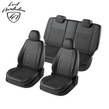 Для Nissan Terrano D10 2012-2016 Комплект модельных авточехлов из экокожи (для а/м с раздельной задней спинкой 60/40 и боковые подушки безопасности (модель Турин)