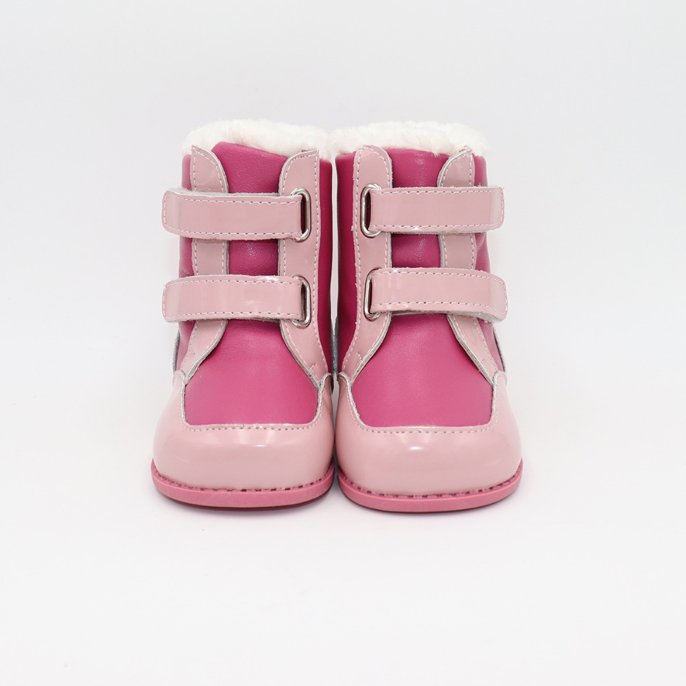 Tipsietoes 2019 New Winter Children Barefoot Shoes Leather Martin Boots Kids Snow Girls Boys Rubber Fashion Pink Sneakers