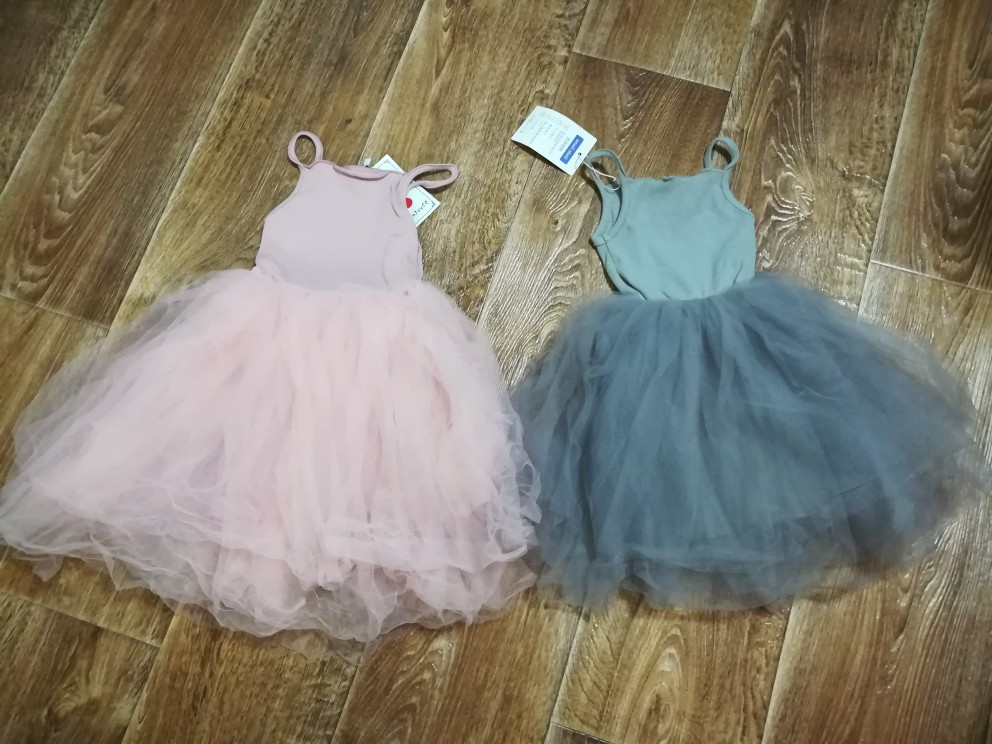 ChanJoyCC Girl's Dress Hot Sale Spring Summer Girls Cotton Casual Cute Dress With Mesh Net Yarn Dance Party Kid Princess Dress