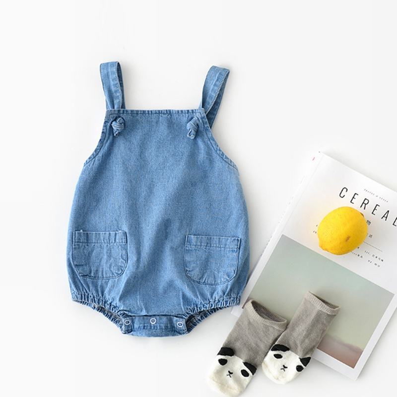 Infant kids Jeans   Romper   Unisex Newborn Baby Jeans Sleeveless   Rompers   2019 Summer Fashion Jumpsuit Baby Clothing