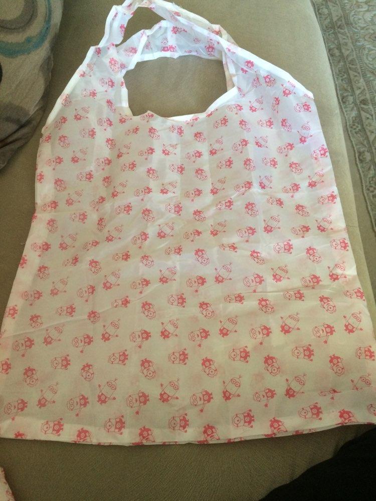 2019 New Women Portable Nylon Folding Shopping Bag Print Large Capacity Shoulder Bag Market Beach  Holiday Fashion Bag photo review