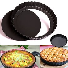 6 ''Flan оловянный пирог сковорода рифленый противень для выпечки антипригарное свободное основание Плесень Комплект кухонное приложение