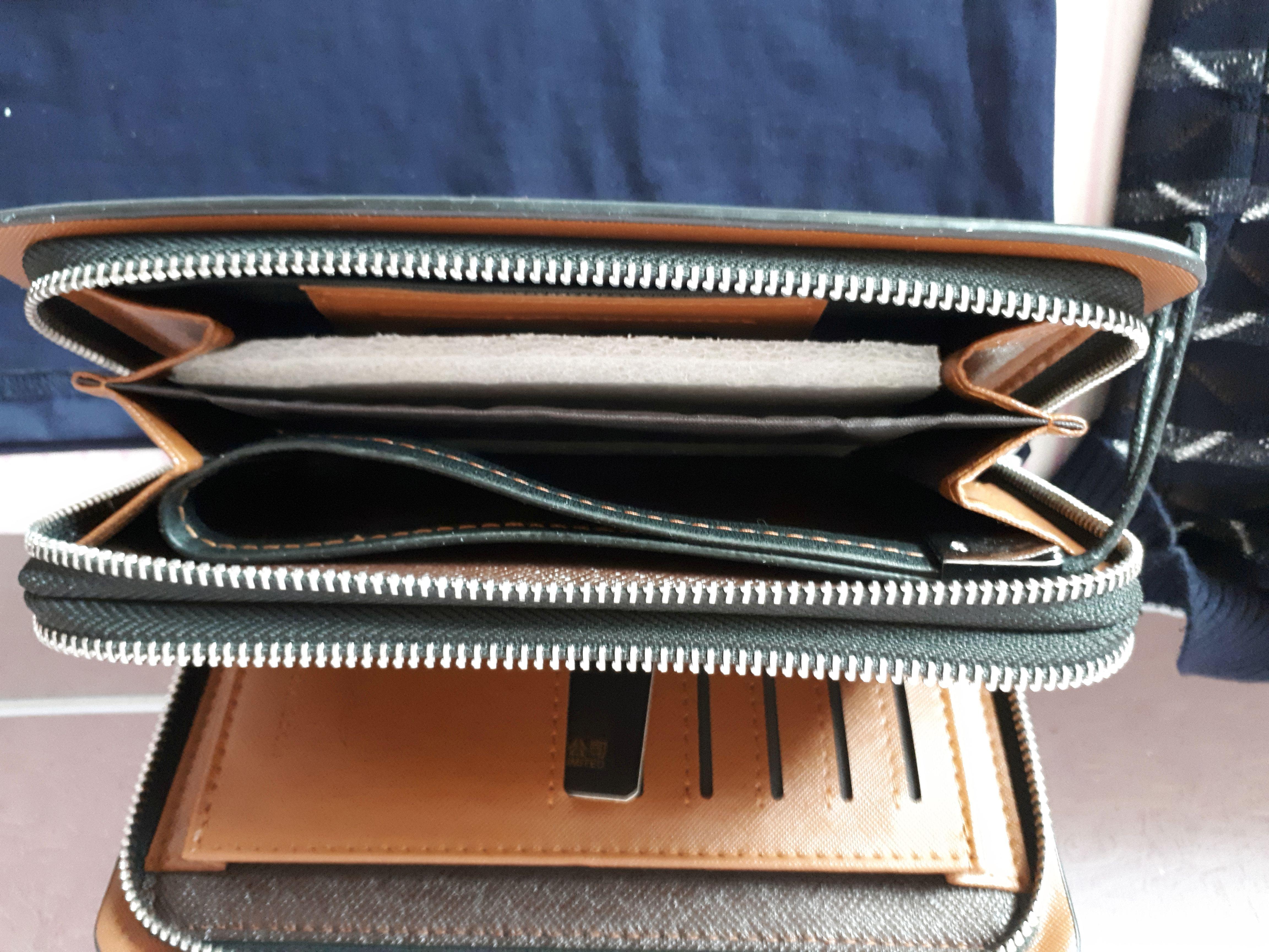 Bag Men's Clutch Wallet pu Men Wallets Double Zipper Male Wallet Solid Color Fashion Long Male Phone Wallet Man's Clutch Bags photo review