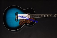 free shipping jumbo body 12 string acoustic electric guitar blue color guitar custom made top quality 12 strings guitars