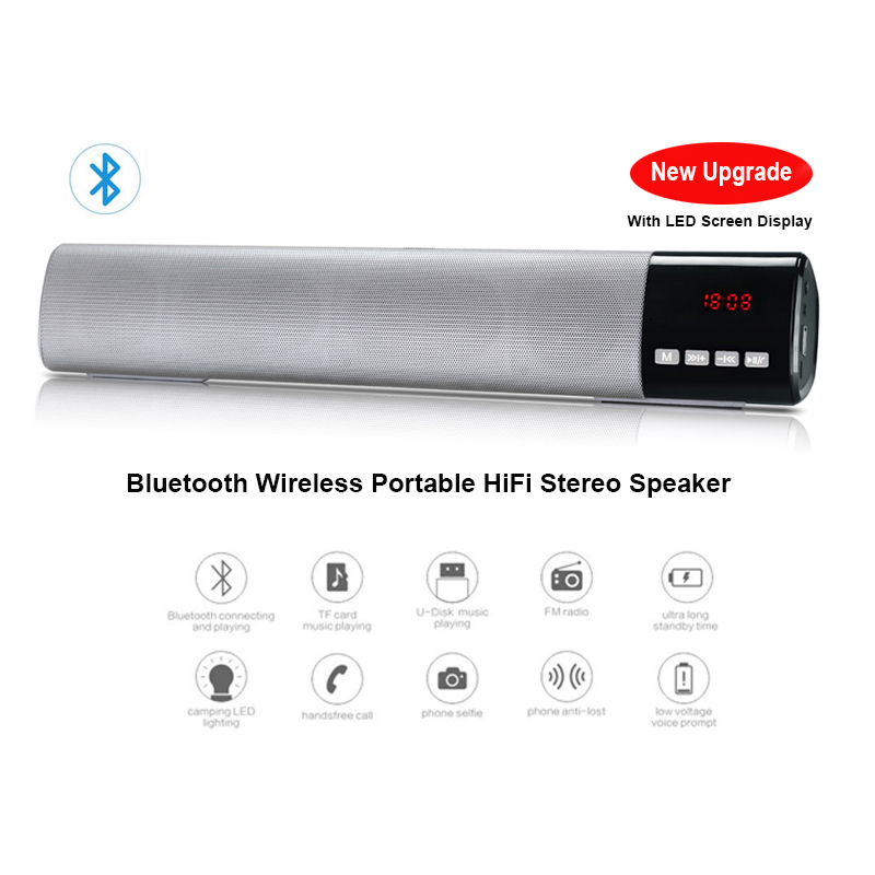 Sound & Vision Portable Audio & Headphones Wooden Wireless Bluetooth Speaker Subwoofer Stereo Sound Box Hands-free O1o3