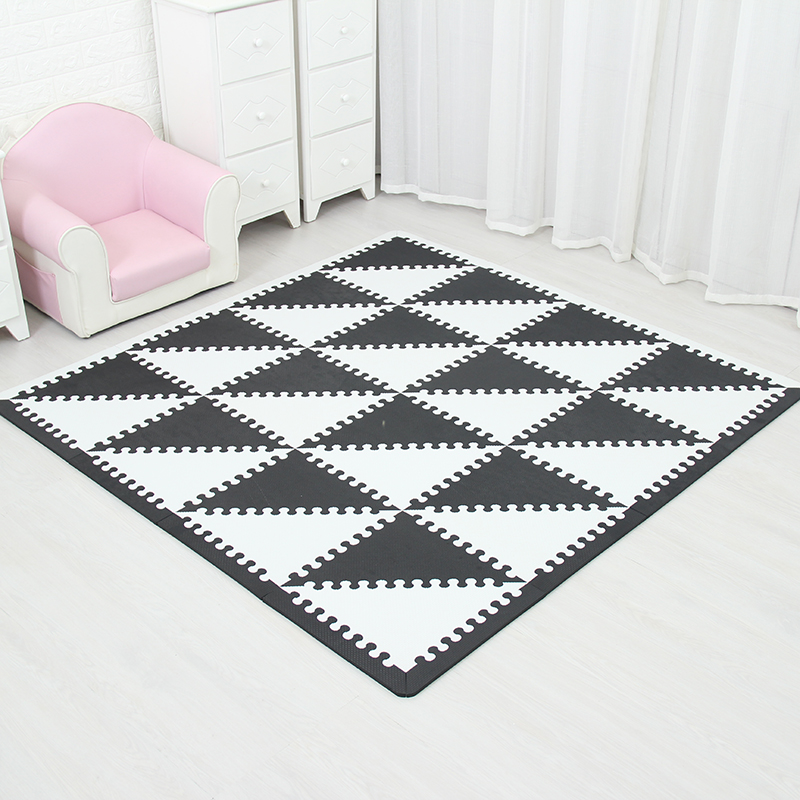 35CM * 1CM EVA Foam Mat Children's Toy Crawl Game Mat Children's Mosaic Mat Soft Floor Baby Puzzle Game Carpet Triangle Pad