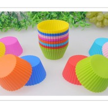 New 12Pcs/Set Eco-friendly Silicone Cake Molds DIY Cupcake Mold Colorful Baking Dessert Tools Reusable Muffin Making Moulds