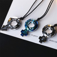 SWAN JEWELRY Male female symbols necklace Unisex Necklace Women Trendy Crystal Pendant Necklace Men Anniversary Gift For Lovers
