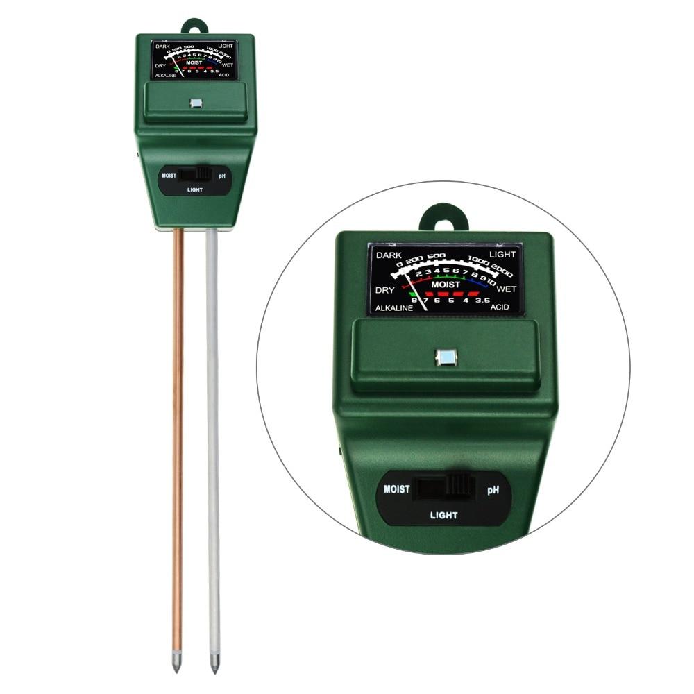 Soil Ph Moisture Amp Light Meter 3 Way Tester Kit Silver