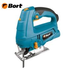 Лобзик электрический Bort BPS-725N-L (Мощность 710 Вт, регулировка скорости 0-3000 об/мин, маятниковая функция, глубина пропила: дерево - 80 , металл - 10 мм, лазерная направляющая, адаптер для пылесоса)