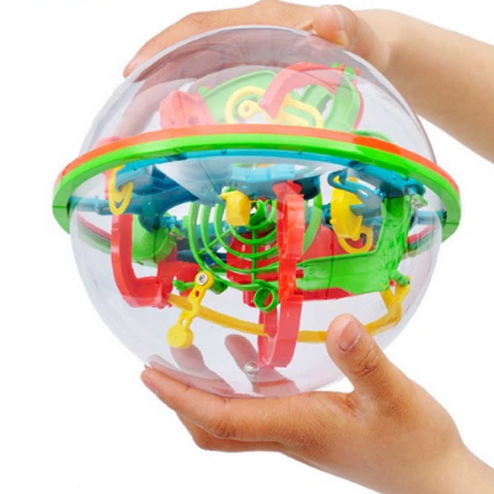цены 3D Labyrinth Magic Rolling Globe Ball Marble Puzzle Cubes Brain Teaser Game Sphere Maze