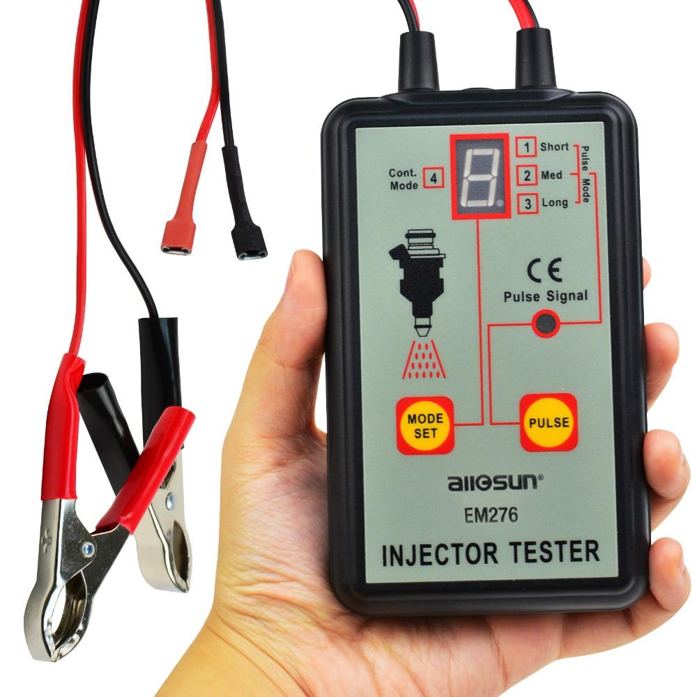 цена на Automotive Fuel Injector Tester, 12V 4 Pulse Modes, Handheld Car Vehicle Fuel Pressure System Individual Test Stuck/Leaking/Burn
