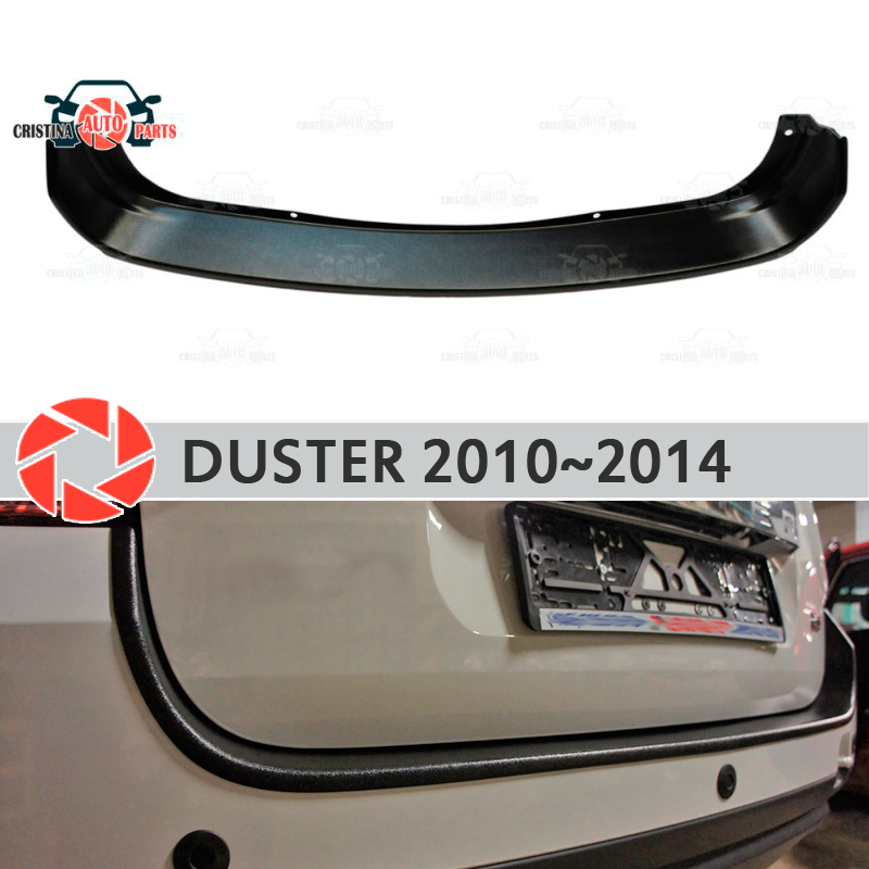 Guard protection plate on rear bumper for Renault Duster 2010-2014 sill car styling decoration scuff panel accessories molding free shipping fog light for peugeot 607 lr2 2006 2014 car styling front bumper led fog lights high brightness fog lamps 1set