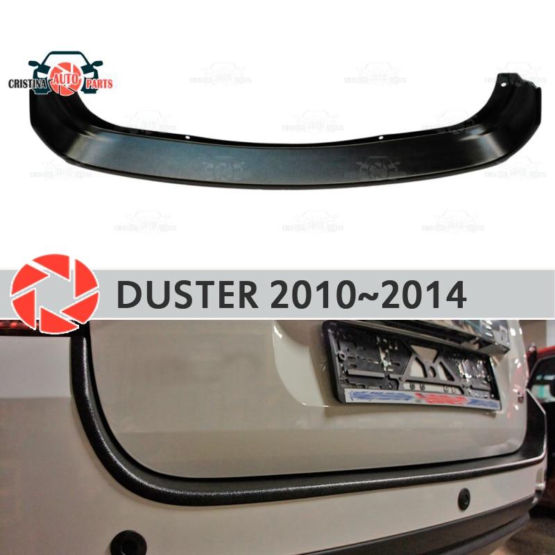 Placa de proteção de guarda no amortecedor traseiro para Renault Duster 2010-2014 scuff do peitoril decoração estilo do carro acessórios do painel de moldagem