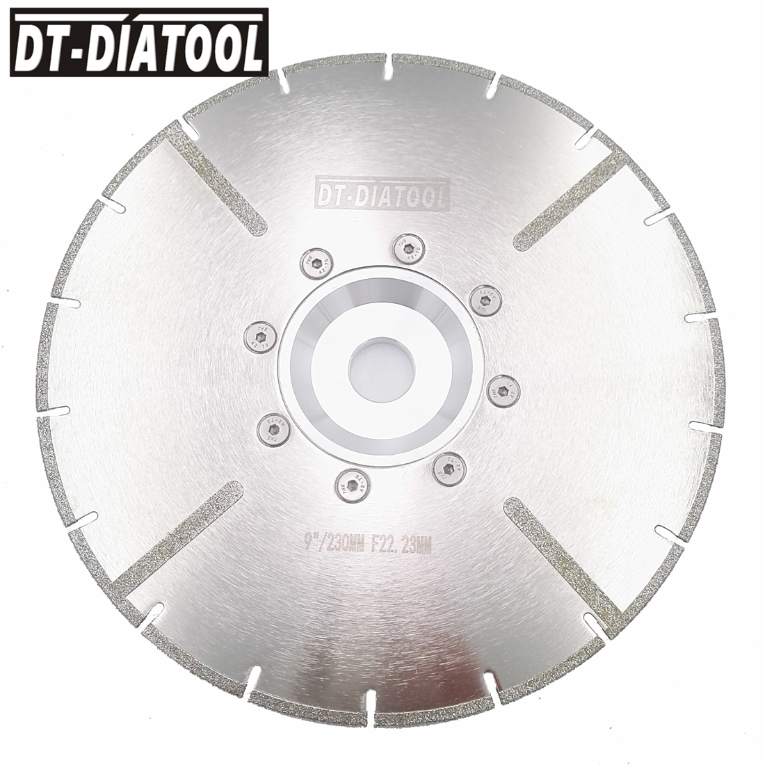 DT-DIATOOL 230mm Electroplated Reinforced Diamond Cutting Disc 22.23MM Flange 9 Inches For Tile And Marble Diamond Saw Blade