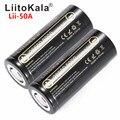 HK Lii-50A LiitoKala 26650 5000 mah Li-ion 3.7 v Bateria Recarregável para Lanterna 20A 26650-50A nova embalagem