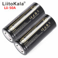 HK LiitoKala Lii-50A 26650 5000mah 26650-50A Li-ion 3.7v Rechargeable Battery for Flashlight 20A new packing