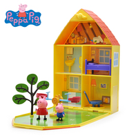 Original Peppa George Pig Garden Luxury House Villa Scenes Set Action Educational Toy Figures Children Birthday Christmas Gift