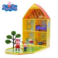Original Peppa George Pig Garden Luxury House Villa Scenes Set Action Educational Toy Figures Children Birthday Christmas Gift