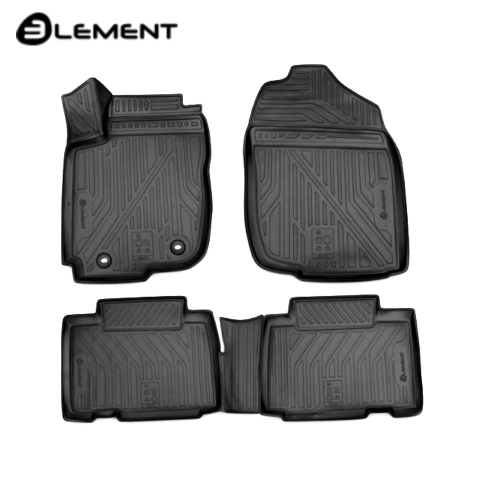 For Toyota RAV4 2013-2019 3D floor mats into saloon 4 pcs/set Element CARTYT00007k custom fit car floor mats for toyota camry rav4 prius prado highlander verso 3d car styling carpet liner ry56